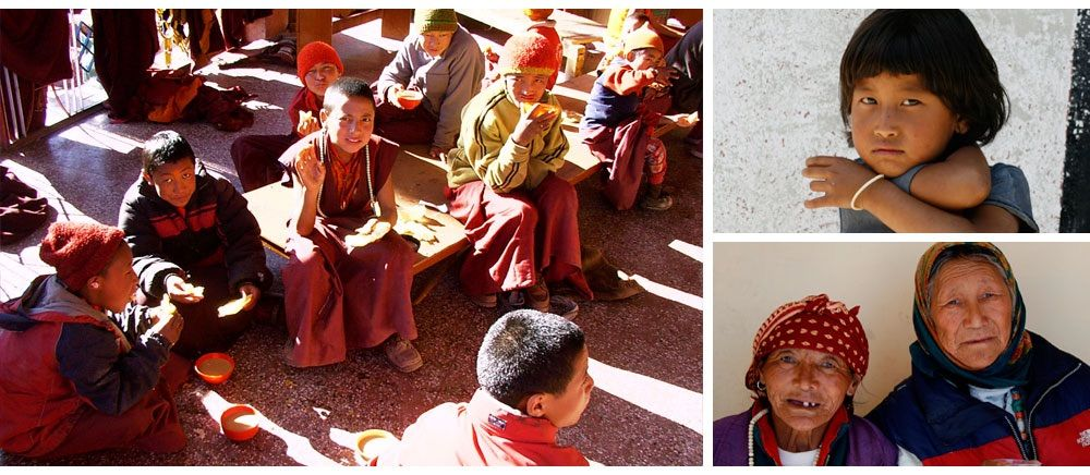 Himalaya Hilfe: Children and old people from sponsored projects